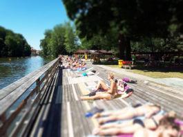 Schwimmen in der Regnitz