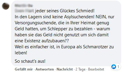 schmarotzer facebook post